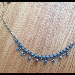 Vintage style necklace baby blue